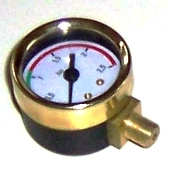 453041 - LaPavoni Boiler Pressure Gauge in Brass ø 41 m 0.2.5 Bar