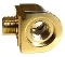 LaPavoni Lever model Guage assembly upper nut in Brass