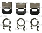 Jura OEM Silicone Hose clamp connector with spring Set of 6
