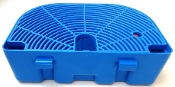"SL340000535 / 7.95NB - FSM GBG Drip tray Blue D-shape with grid. No level float. Wide 3/4"" hooks 3"" apart."