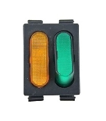 186014600 - 996530026024 Saeco Red Bipolar Switch with fixed green indicator