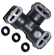 Jura 3-Way PTFE Tube Connector w/O-rings (3)