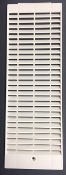 GB-3.30 - SL3GS36006B Side Panel Louvered Section, White Plastic. Size 310 x 106 mm.