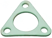 Triangular PTFE gasket for heating element 80x80x2, Dia 40 mm