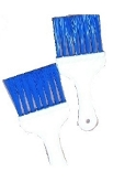 Condenser coil cleaning brushes