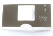 11012456 Gaggia Platinum Vision Silver Front Plate Display G0053/d Assy.