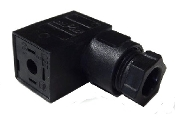 Female 90 degree connector for solenoid Coiis