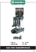 Rancilio MD40/50ST/50AT/80 - Grinder Manual & Wiring