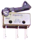 NE05.038 Microswitch with plastic actuator 0.3A 30V