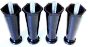 "13255.0003 BUNN Black Plastic Leg 4"" Adj. (set of 4)"