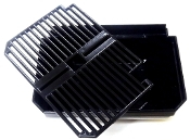 F059 Faby Drip Tray Black Hooked with Grid