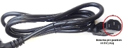 Saeco 996530002167 (11004247) Black Power Cable Rvv 3X1 China L=1200