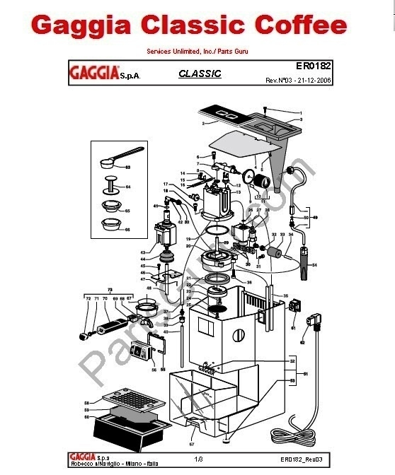 gaggia classic coffee 120v manual back flushing guide rh shop partsguru com Gaggia Classic Manual PDF Gaggia Classic OPV Mod